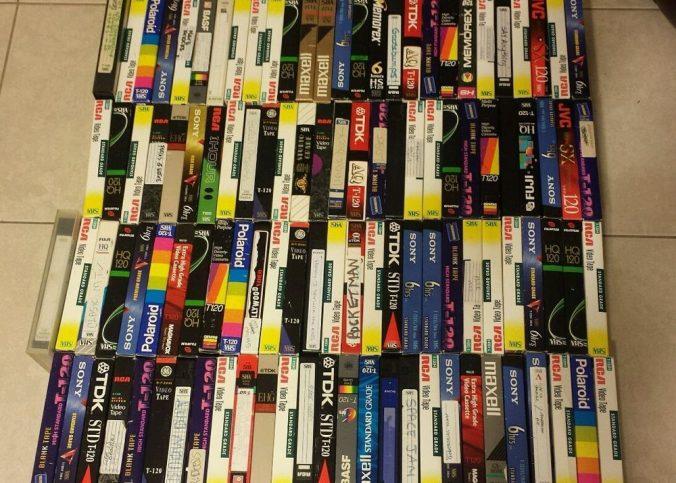 beaucoup de cassettes VHS